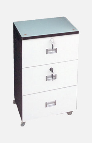Chest of 3 drawers with wheels