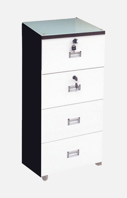 Chest of 4 drawers with wheels