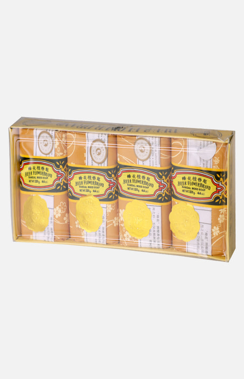 Bee & Flower Sandalwood Soap  (4pcs)