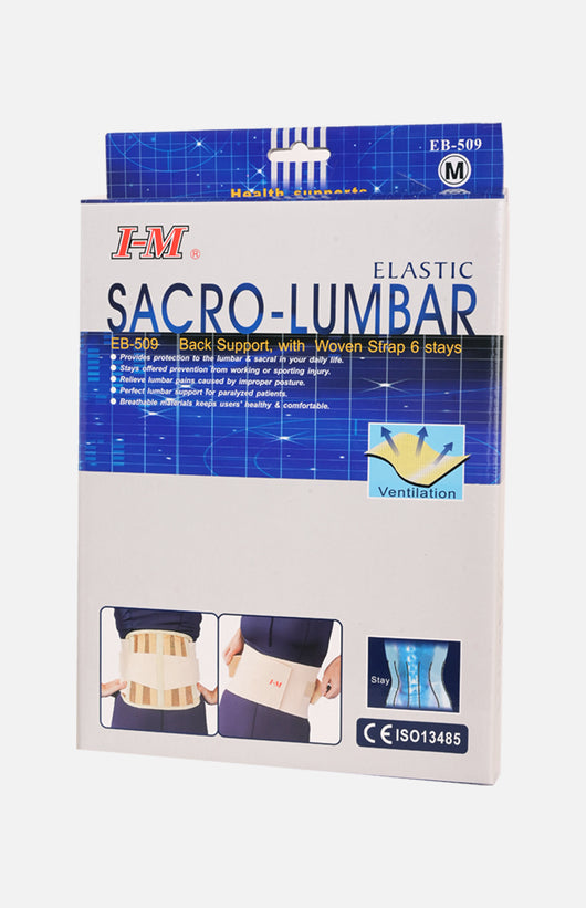 I-m Sacro-lumbar Eb-509 Back Support, With Woven Strap 6 Stays
