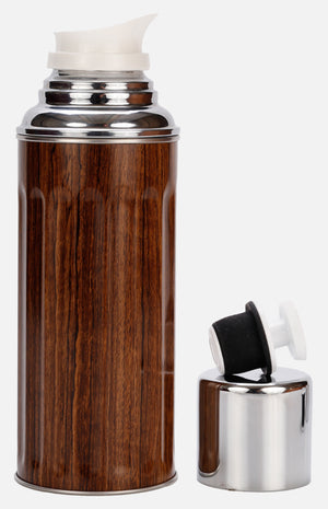 CAMEL 112 Vacuum Flask (0.45L) - Wood Grain