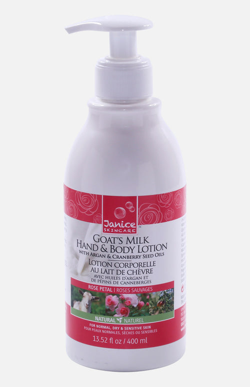 Janice Skincare Goat's Milk Hand & Body Lotion (Rose Petal)