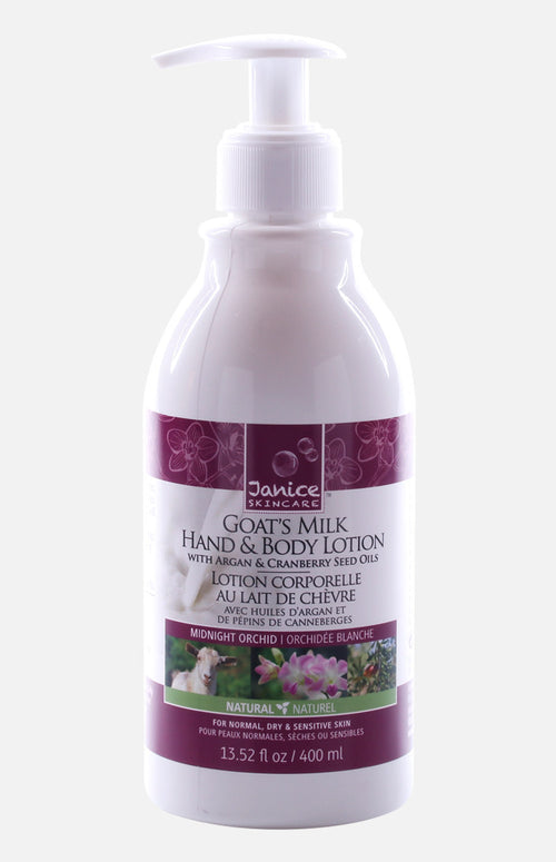 Janice Skincare Goat's Milk Hand & Body Lotion (Midnight Orchid)