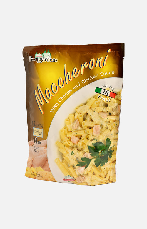 Maccheroni with Cheese and Chix Sauce