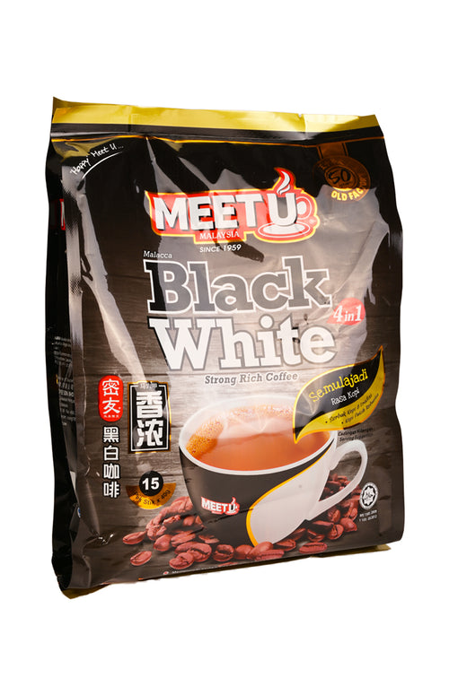 Meet U Black White Strong Rich Coffee 4 In 1