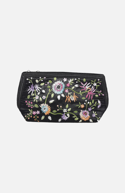 Embroidered Makeup Pouch