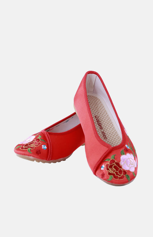 Silk Embroidere Shoe (A)