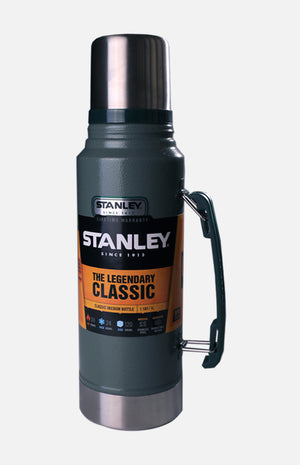 U.S.A. Stanley Classic Vacuum Insulated Bottle (1.1QT)- H. Green