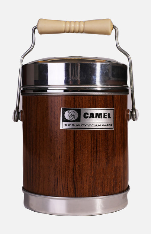 Camel 478VW Wide Mouth Vacuum Food Jar (1.25L) - Wood Grain
