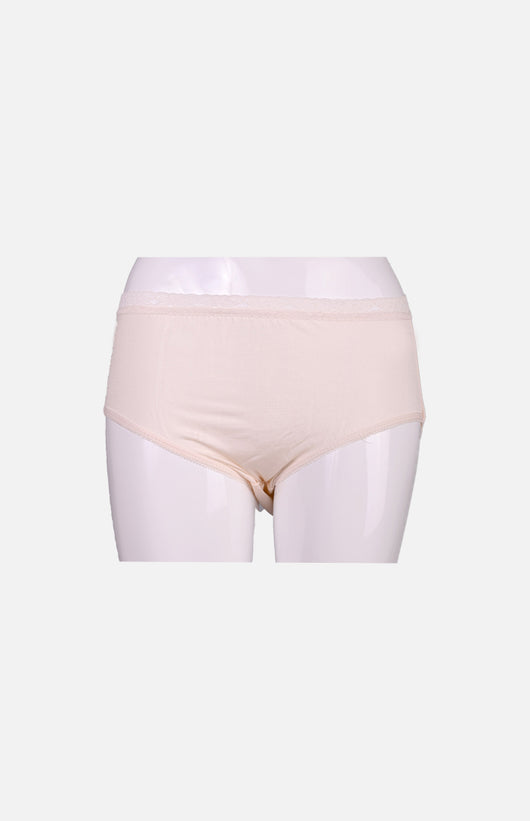 Silkcity Ladies High Waist Silk Panties- Pink