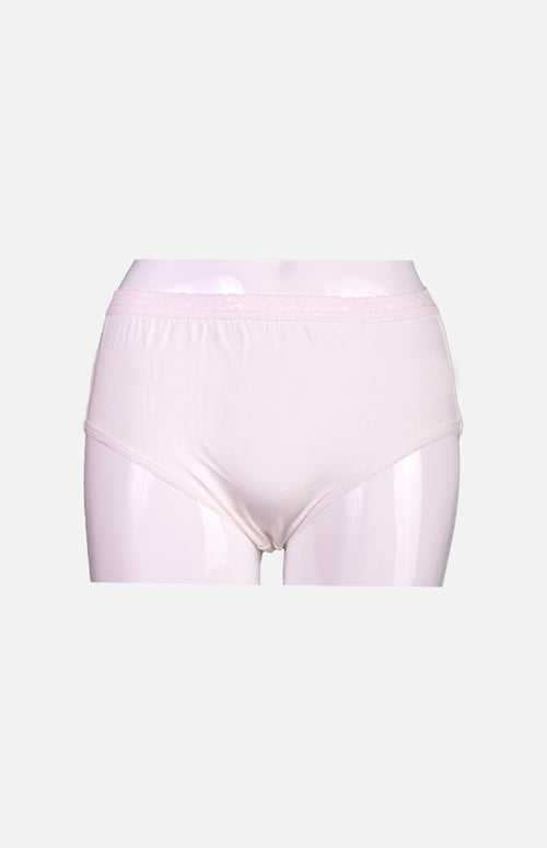 Silkcity Ladies High Waist Silk Panties- White