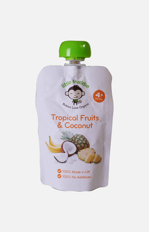 Little Freddie Organic Tropical Fruits & Coconut