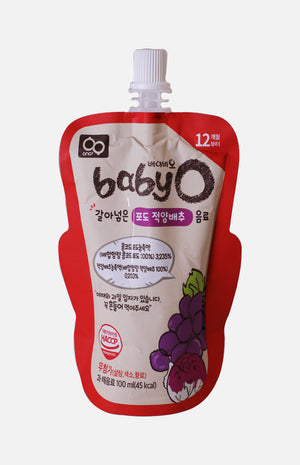 Baby'O Blended Vegetables & Fruit Juice (Grape Red+Cabbage)