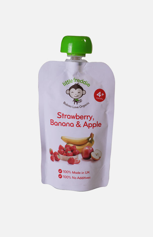 Little Freddie Organic Strawberry Banana Apple