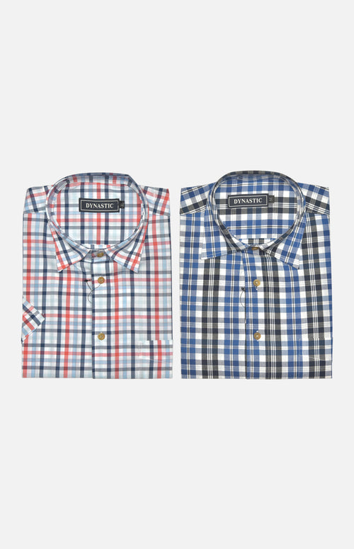 Dynastic Men's Cotton Casual S/S Shirt