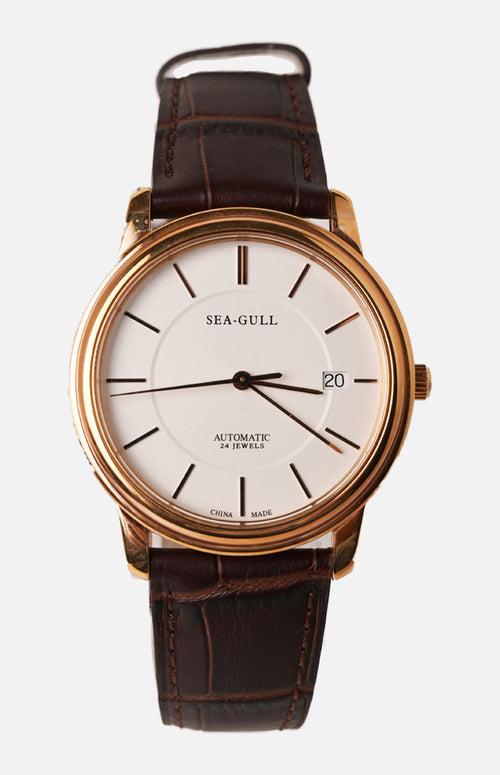 Sea-Gull Rose Gold Ultra-thin Mechanical Watch (M201SG)