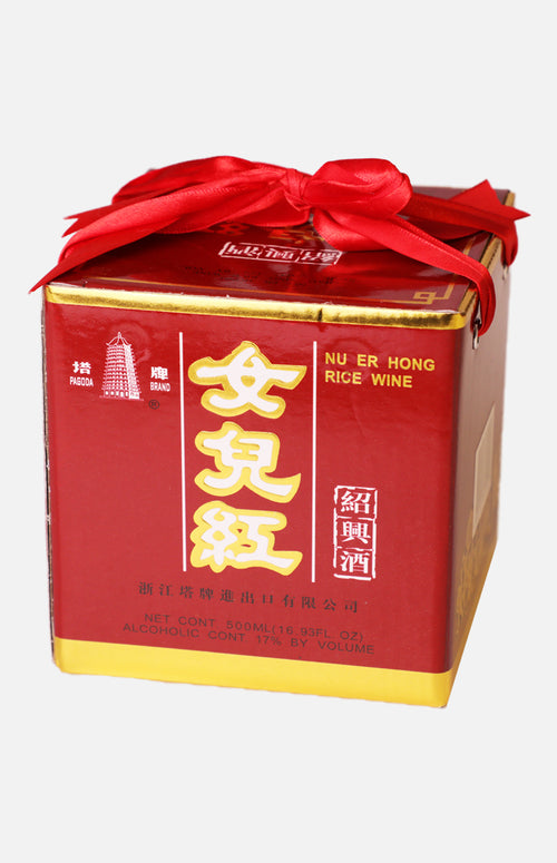 Pagoda Nu'er Hong 500ml (Hua Diao Rice Wine)