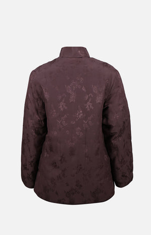Double Horse Silk Wadded Jacket