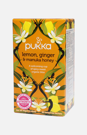 Pukka Organic Lemon, Ginger & Manuka Honey Tea (20 tea sachets)
