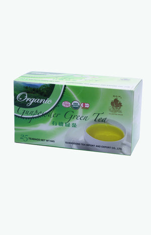 Golden Sail Brand Organic Green Tea Bags (25 tea bags)