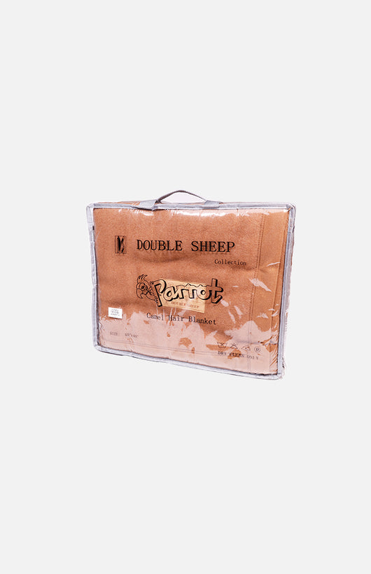 Double Sheep Camel Hair Blend Single Blanket