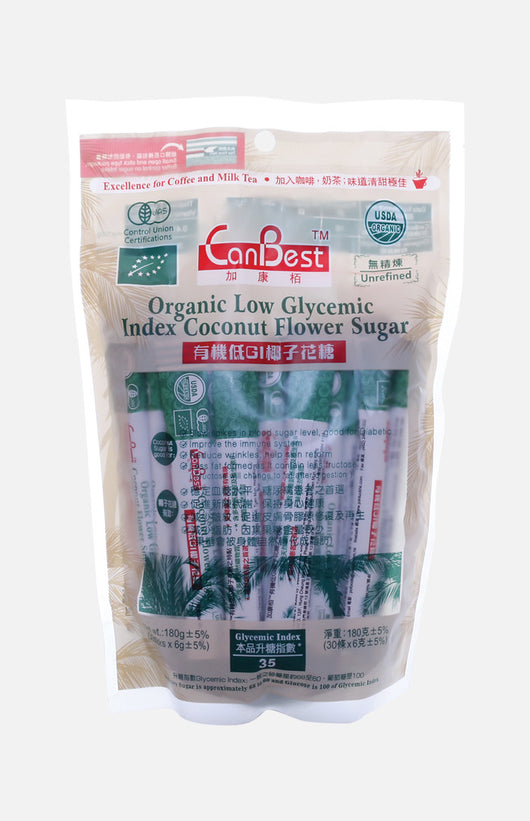 Organic Low Glycemic Index Coconut Flower Sugar (30 sticks)