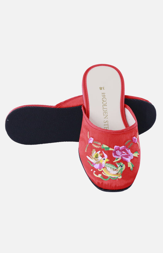 Silk Embroidered Slipper (Yuan Yuang)
