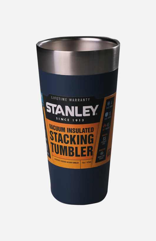 U.S.A. Stanley Adventure Stacking Vaccum Pint (16oz)-Blue