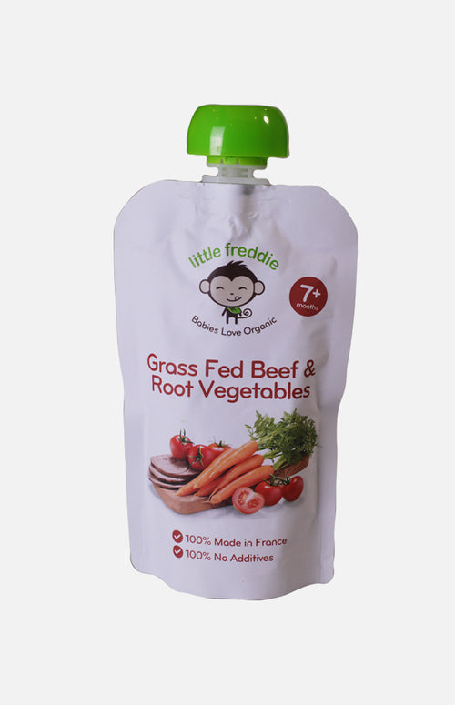 Little Freddie Organic Grass-fed Beef with Root Vegetables Medley