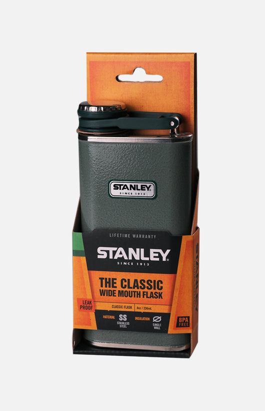 U.S.A. Stanley Classic Wide Mouth Flask (8oz)- H. Green