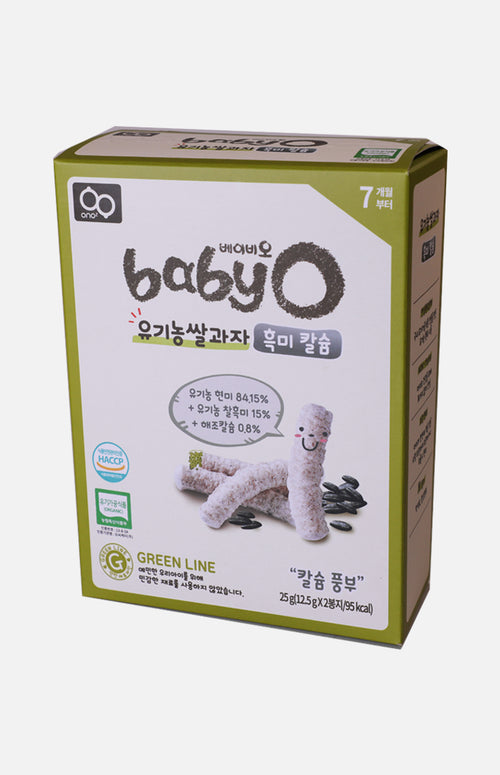 Baby'O Organic Rice Crackers (Black Bean+Calcium)