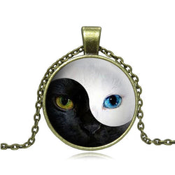 YIN YANG Cat Pendant Necklace