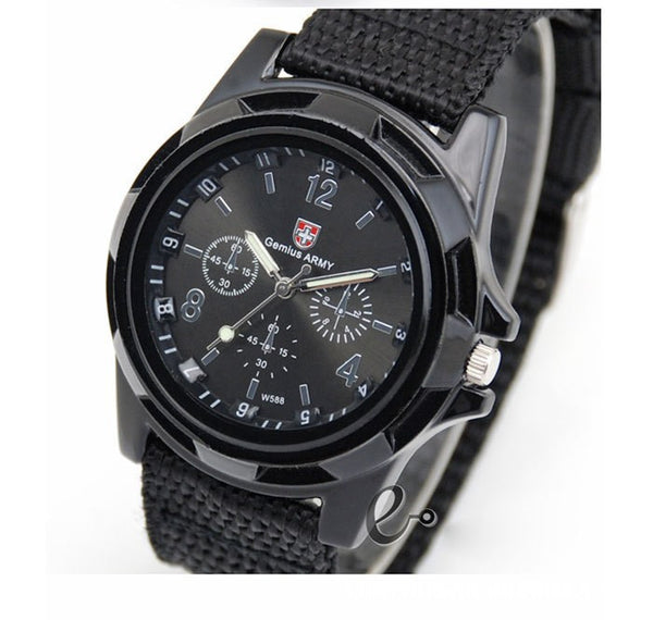 Military Canvas Sports Watch
