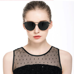 Twin-Beams Mirror Cat Eye Sunglasses