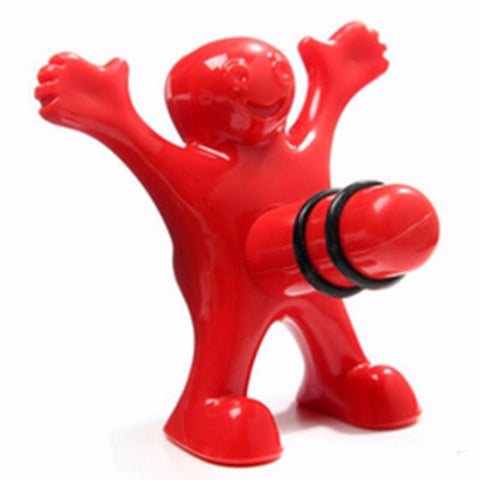 Funny Happy Guy Wine Cork Bottle Plug