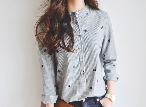 Long Sleeve Women's Blouse - Shirt