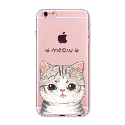 Soft Silicone Transparent Phone Case Cover For Apple iPhone 6 6S 5 5S SE 6Plus 6sPlus 5C 4 4S