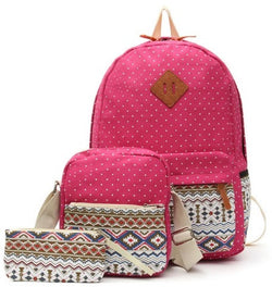 3 Pcs/Set Backpack