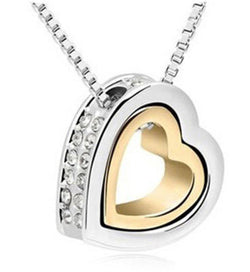 Heart Necklaces Pendants Best Seller Silver Plated Jewelery