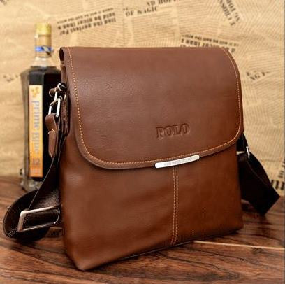 Men's PU Leather Messenger Bag