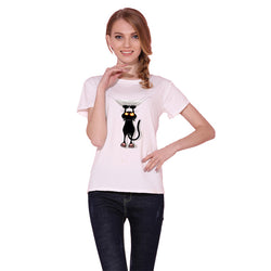 Women's Naughty Black Cat 3D T-Shirt