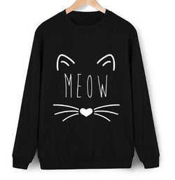 Sweatshirt - Cat, Cute, Dream, Escape