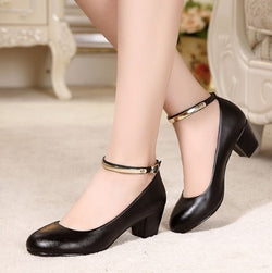 Leather High Heel Shoes