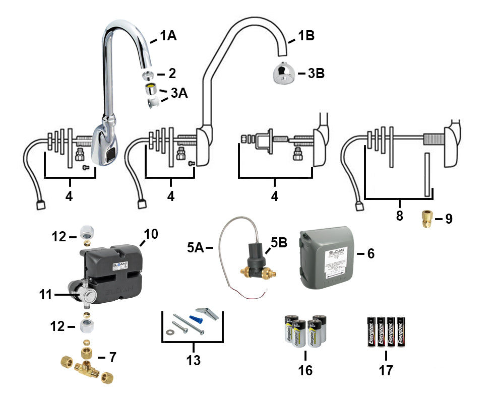 sloan electronic faucet parts ebf 550 \u0026 ebf 550 s parts breakdowncall us to order those parts ) the troubleshooting q\u0026a is below the parts breakdown, and lists the most common problems and repair solutions