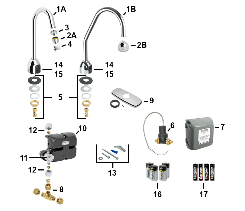 sloan electronic faucet parts ebf 750 \u0026 ebf 750 s parts breakdownto order those items, give us a call ) scroll further down and you will see the troubleshooting q\u0026a, which lists popular sloan faucet problems and repair