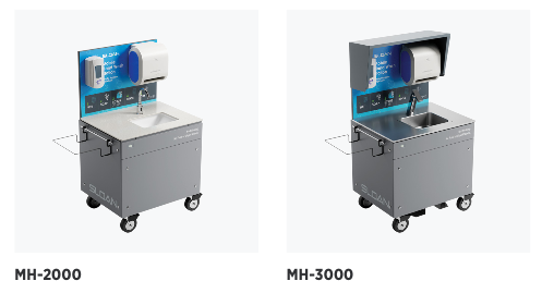 Self-contained handwashing stations