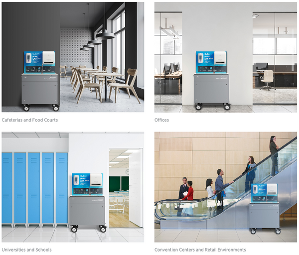 Sloan Mobile Handwashing Stations in Commercial Facilities