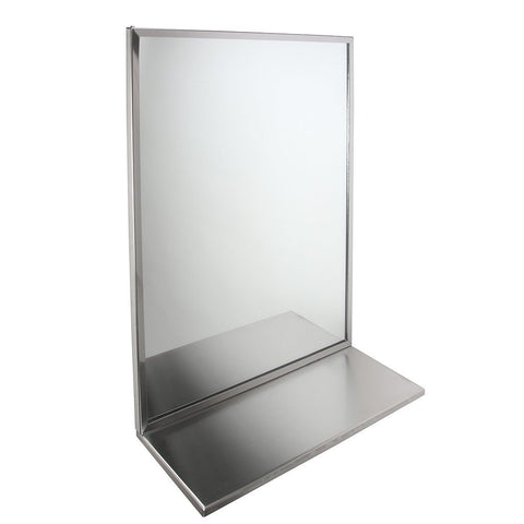 24x30 Channel Mirror with Shelf