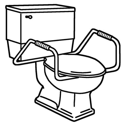 Toilet Seat - Heavy Duty Bowl Mount Guard Rail Unit