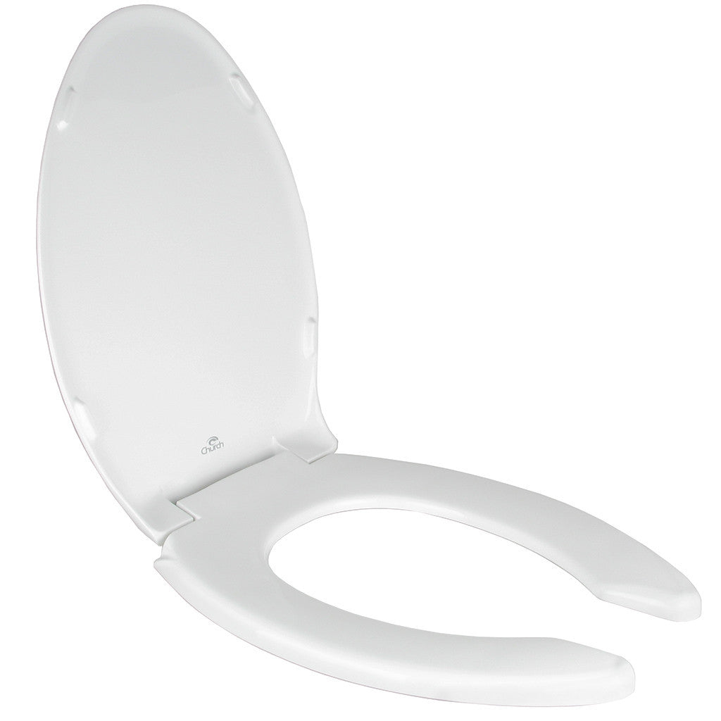 Church Toilet Seat - Elongated Open Front with Cover